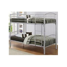 image-Paddington Children Metal Bunk Bed In Silver