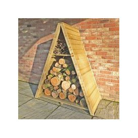 image-Shire Large Triangular Log Store Tongue & Groove Pressure Treated