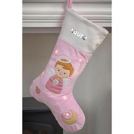 image-Personalised Light-Up Girl Angel Stocking