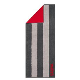 image-Sauna Beach Towel Caw├╢ Colour: Anthracite/Red