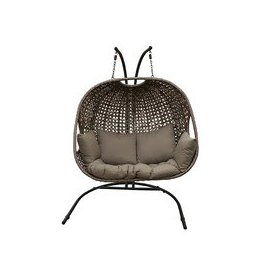 image-LG Outdoor Bergen Fusion Weave Hanging Double Egg Chair