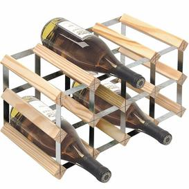 image-Barrick 12 Bottle Wall Mounted Wine Rack Symple Stuff