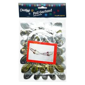 image-3 Pack Garland Christmas Decoration 6 Inch x 9 Foot Silver & Gold