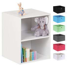 image-Hartleys White 2 Cube Kids Storage Unit
