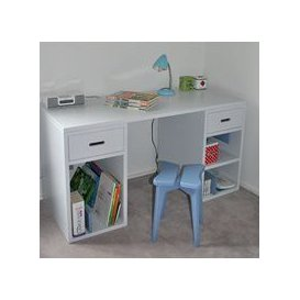 image-Mathy by Bols Kids Desk in Madaket Design - Mathy Powder Blue