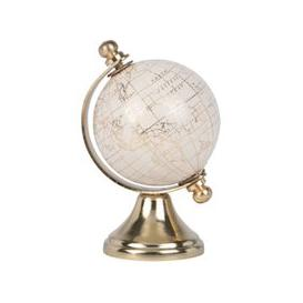 image-Golden and White Metal World Map Globe