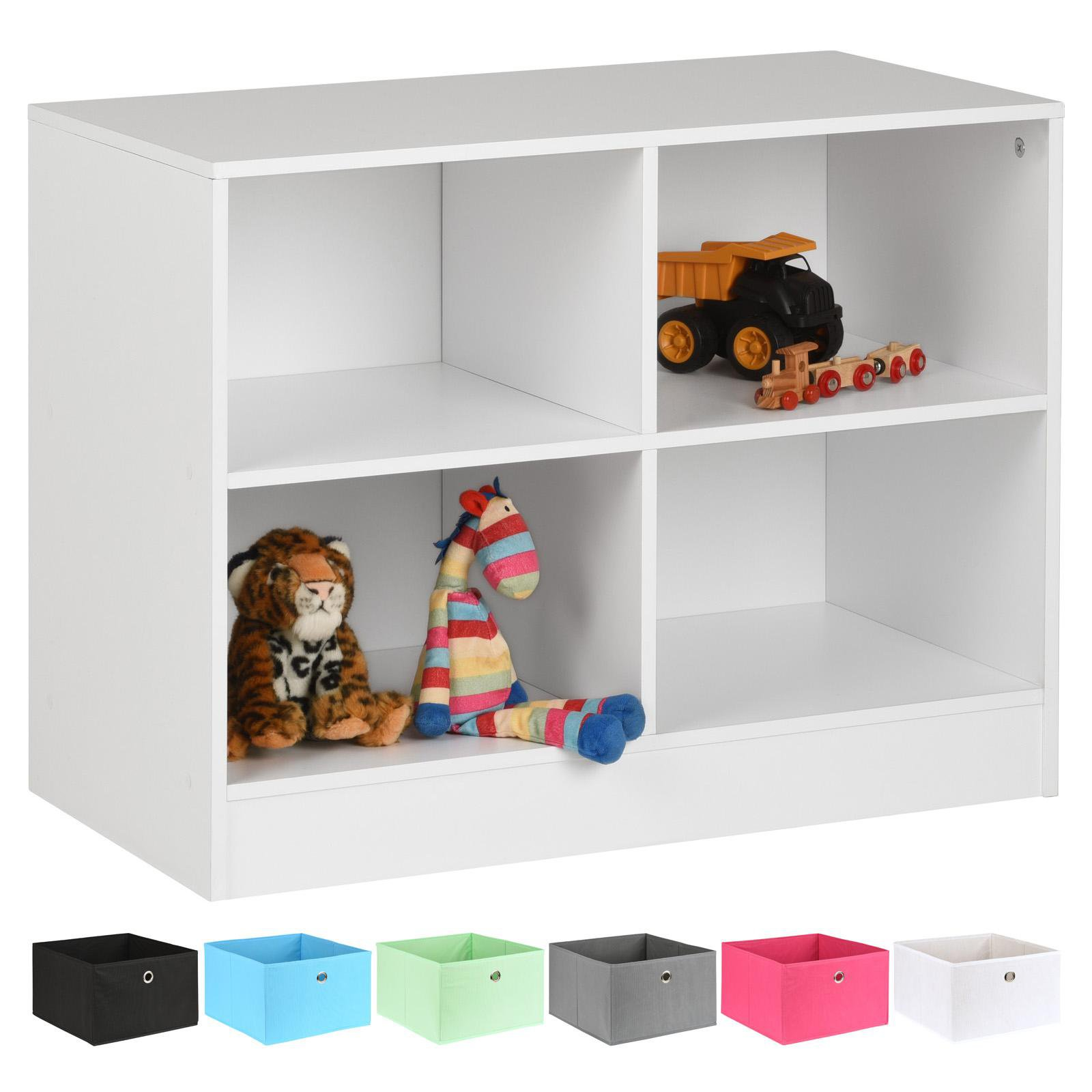 image-Hartleys White 4 Cube Kids Storage Unit