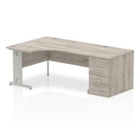 image-Zetta Executive Desk Ebern Designs Size: 73 cm H x 160 cm W x 80 cm D, Orientation: Right