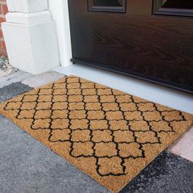 image-Trellis Coir Outdoor Entrance Doormat