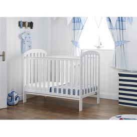 image-Lily Cot with Mattress Obaby Colour: Warm Grey