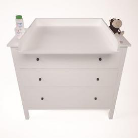image-Amaro Changing Table Topper Mack + Milo Colour: White