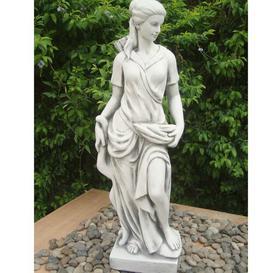 image-Hunter Girl Effect Statue Sol 72 Outdoor Colour: White Stone