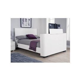 image-Milan Bed Company Newark 5FT Kingsize TV Bed,White