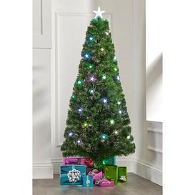 image-Fibre Optic Star and Ball Christmas Tree
