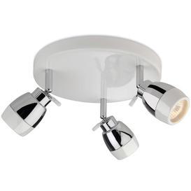 image-Firstlight 8203WH Marine White 3 Light Bathroom Ceiling Spotlight, IP44