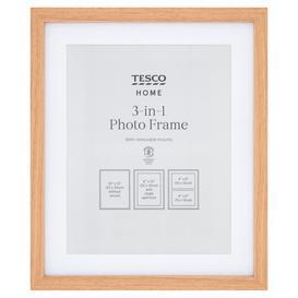 image-Tesco Photo Frame Double All Purpose 8X10 Oak