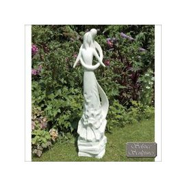 image-Caring Embrace Garden Ornament Statue - White