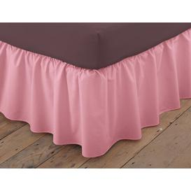image-Margret 144 Thread Count Valance Zipcode Design Size: Single (3'), Colour: Dusky Pink