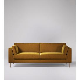image-Swoon Nero Four-Seater Sofa in Turmeric Smart Wool With Light Feet
