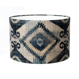 image-70cm Cotton Drum Lamp Shade Bloomsbury Market Size: 23cm H x 35cm W x 35cm D, Colour: Indigo
