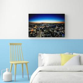 image-'Sydney Night Lights' Photographic Print on Wrapped Canvas East Urban Home Size: 66 cm H x 101.6 cm W