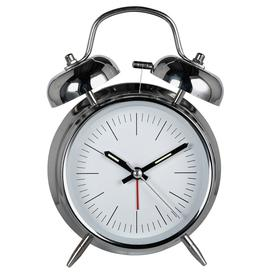image-Constant Twin Bell Alarm Clock - Silver