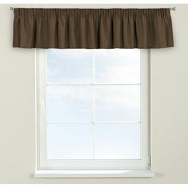 image-Panama Curtain Pelmet Dekoria Size: 390cm W x 40cm L, Colour: Brown