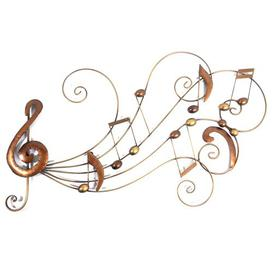 image-Bronze Music Scroll Metal Wall Décor Happy Larry