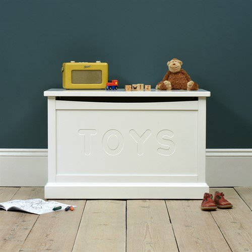 image-Littleton White Painted Toy Box