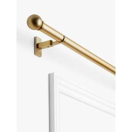 image-John Lewis & Partners Made to Measure Revolution Eyelet Curtain Pole with Ball Finials, Wall / Ceiling Fix, Dia.30mm