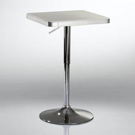 image-Boylon Adjustable Bar Table Metro Lane Colour: White