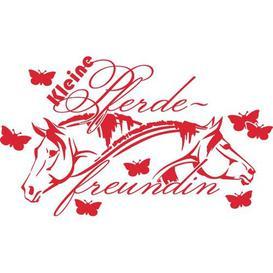 image-Kleine Pferdefreundin Wall Sticker Happy Larry Colour: Light red, Size: 110 cm H x 188 cm W