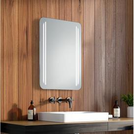 image-Helen LED Illuminated Bathroom Mirror Wade Logan Size: 63cm H x 53cm W x 3.2cm D