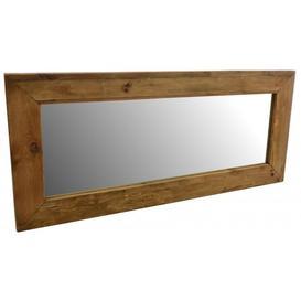 image-Ancient Mariner Fair Isle Reclaimed Pine Rectangular Mirror - 180cm x 80cm