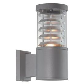 image-Wolking 1 Light Wall Lamp Sol 72 Outdoor Finish: Grey