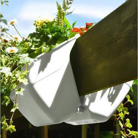 image-Naturtalent Plastic Self-Watering Balcony Planter KHW Colour: White, Set Size: 2