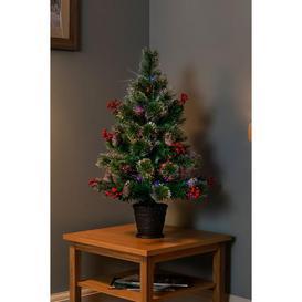 image-Fibre Optic Snow Tipped Bottle Brush Christmas Tree