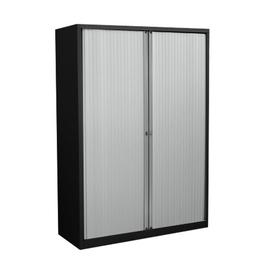 image-Anthracite 2 Door Tambour Unit Brayden Studio Finish/Colour: Black