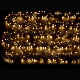 image-2000 LED White Outdoor Animated Cluster Fairy Light Mains 16m
