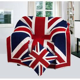 image-Union Jack Blanket Mercury Row Size: 250cm x 380cm, Colour: Red / Blue