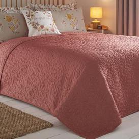 image-Amber Terracotta Bedspread Terracotta