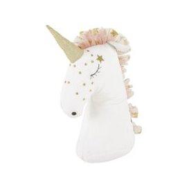 image-Pink and White Unicorn Door Stop