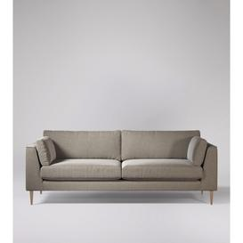 image-Swoon Nero Four-Seater Sofa in Llama Smart Wool With Light Feet