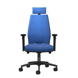 image-Godin Ergonomic Desk Chair Ebern Designs Upholstery: Blue, Arms: 3D Adjustable