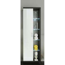 image-Chipping Sodbury 58 x 181cm Tall Bathroom Cabinet Wade Logan Mit Beleuchtung: Yes