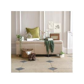 image-Willow Large Buttoned Blanket Box - Stone Linen
