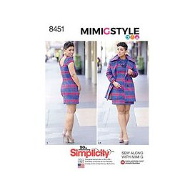 image-Simplicity Mimi G Style Women's Dress And Coat Sewing Pattern, 8451