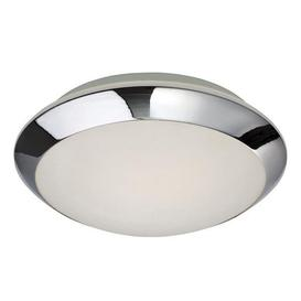 image-Firstlight 6099 Mondo Flush Glass And Chrome Bathroom Ceiling Light