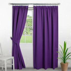 image-Pencil Pleat Blackout Thermal Curtain Symple Stuff Colour: Plum, Panel Size: 168 W x 229 D cm