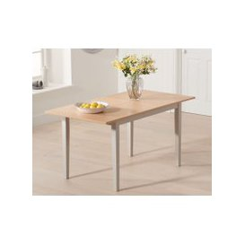 image-Chiltern 120cm Oak and Grey Extending Dining Table